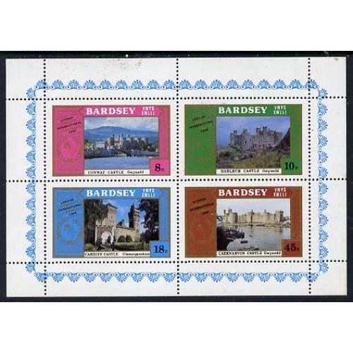 Bardsey 1980  WELSH CASTLES perf set of 4 mnh