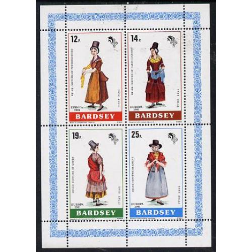 Bardsey 1981  EUROPA - WELSH COSTUMES perf set of 4 mnh