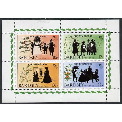 Bardsey 1980  CHRISTMAS perf set of 4 mnh