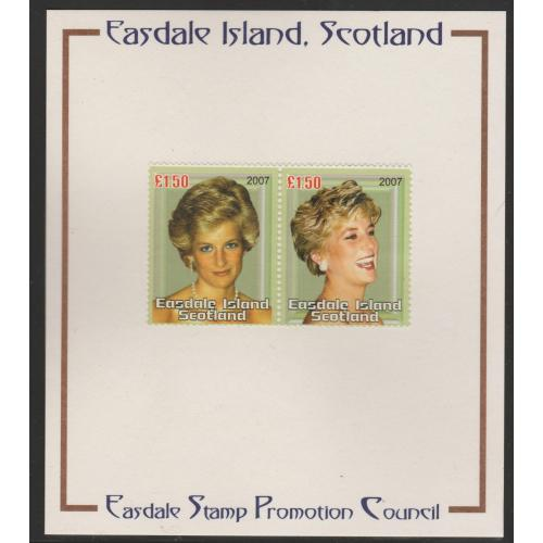 Easdale 2007 PRINCESS DIANA IMPERF  on PUBLICITY PROOF CARD