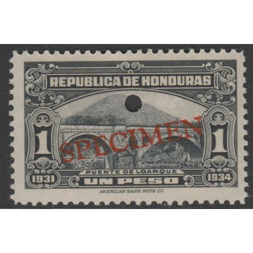 Honduras 1931 BRIDGE 1p SPECIMEN - ex ABN Co Archives