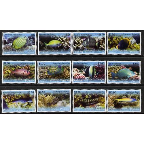 Cook Is Penrhyn 2013 TROPICAL FISH def set 12 vals mnh