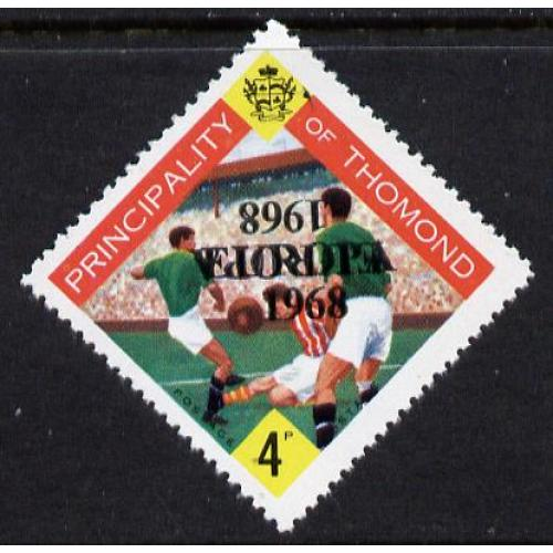 Thomond 1968 FOOTBALL - EUROPA OPT DOUBLED, one INVERTED mnh