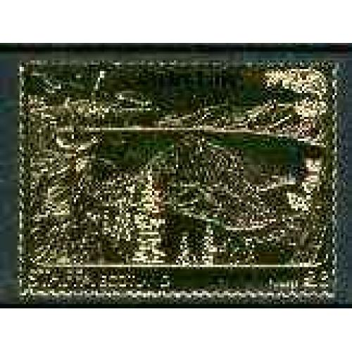 Staffa 1981 CRATER LAKE £8  embossed in GOLD FOIL mnh