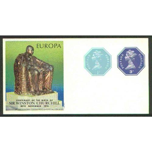 GB 1974 EUROPA  - CHURCHILL sheet with POSTALLY VALID OCTAGONAL STAMS
