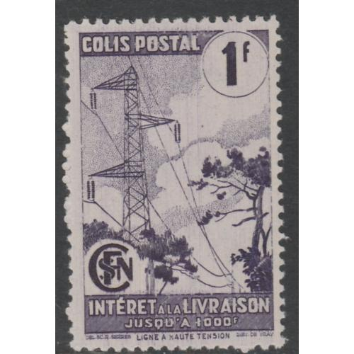 France 1944 SNCF RAILWAY PARCEL - ELECTRIC PYLONS 1f mnh