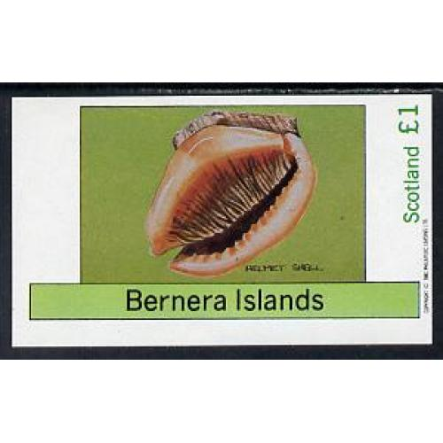 Bernera 1982  SHELLS - imperf souvenir sheet mnh