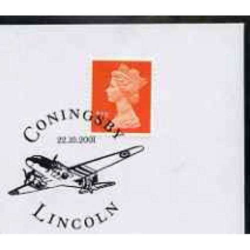 GB Postmark - 2001 cover with special AEROPLANE cancel