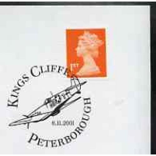 GB Postmark - 2001 cover with special US FIGHTER cancel
