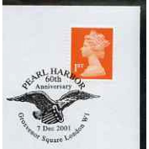 GB Postmark - 2001 cover with special AMERICAN EAGLE cancel