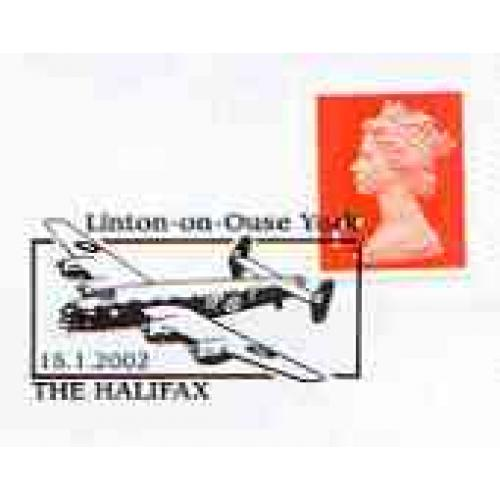 GB Postmark - 2002 cover with special HALIFAX BOMBER cancel