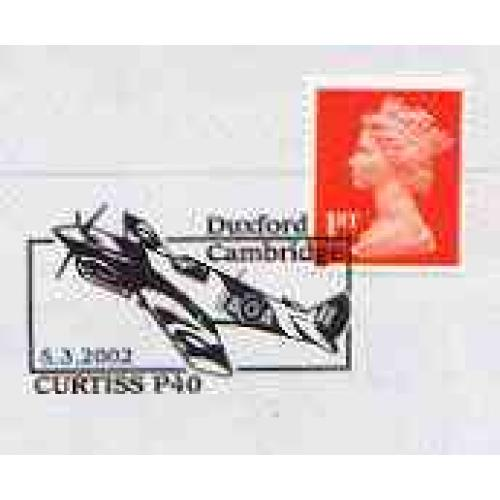 GB Postmark - 2002 cover with special CURTISS P40 cancel