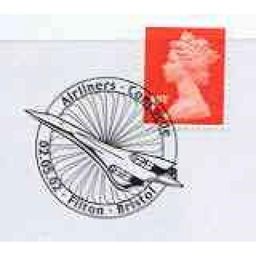 GB Postmark - 2002 cover with special CONCORDE cancel