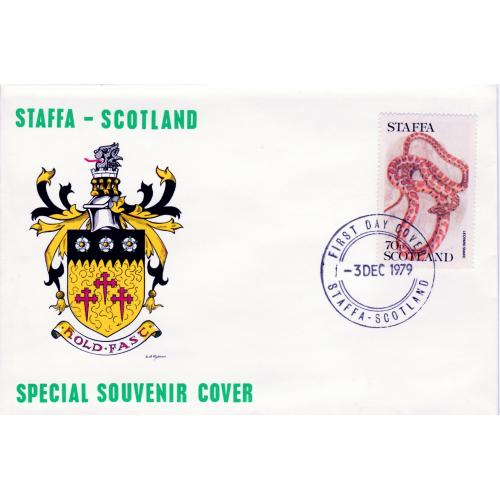 Staffa 1979 LEOPARD SNAKE on cover with First Day Cancel
