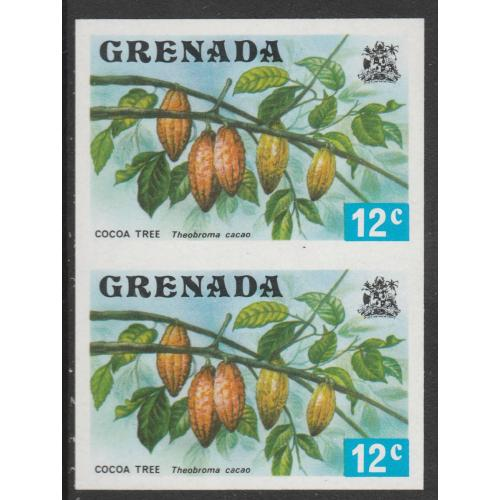 Grenada 1975 - COCOA TREE 12c  IMPERF PAIR mnh