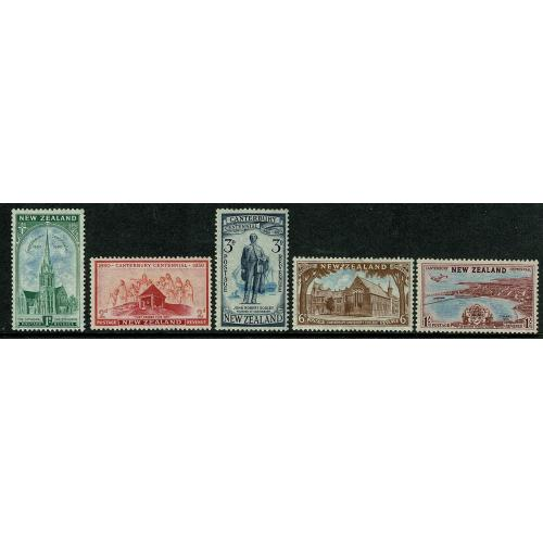 1950 Centennial of Canterbury. SG 703-707
