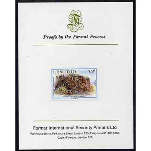 Lesotho 1984 BABY ANIMALS - NATAL RED HARES on FORMAT INTERNATIONAL PROOF CARD