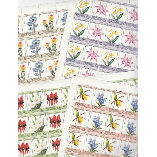 St Vincent Grenadines 1985 FLOWERS in COMPLETE SHEETS (25 sets of 8)