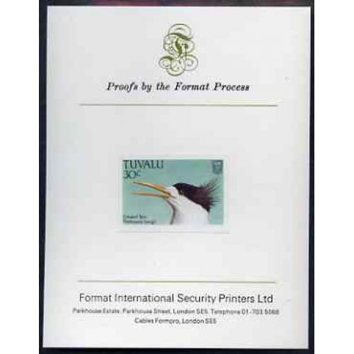 Tuvalu  1988 BIRDS - CRESTED TERN  on FORMAT INT PROOF CARD