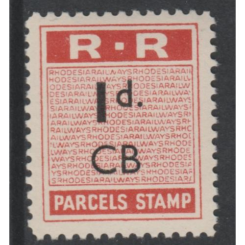 Norther Rhodesia 1951-68 RAILWAY PARCEL STAMP mnh