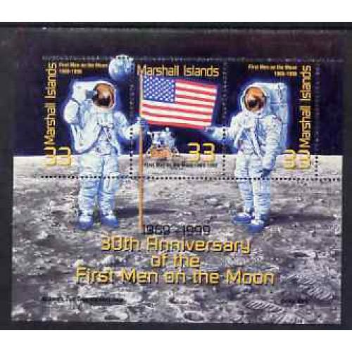 Marshall Islands 1999 MOON LANDING perf variety mnh