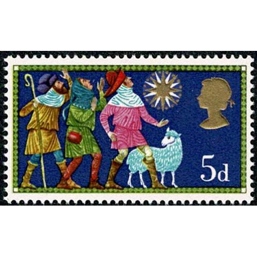 1969 Christmas 5d. MISSING PHOSPHOR. SG 813y
