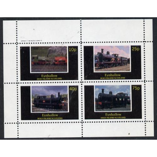 Eynhallow 1982 STEAM LOCOS perf set of 4 mnh
