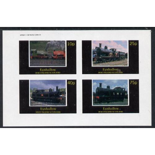 Eynhallow 1982 STEAM LOCOS imperf set of 4 mnh