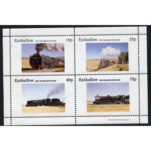 Eynhallow 1981 STEAM LOCOS perf set of 4 mnh