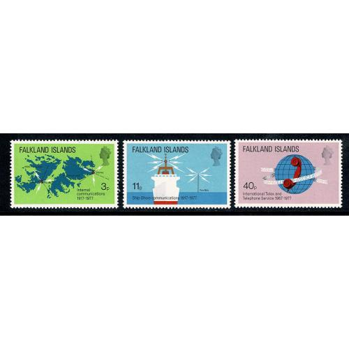 Falkland Islands. 1977 Telecommunications. UM set of 3. SG 328-330