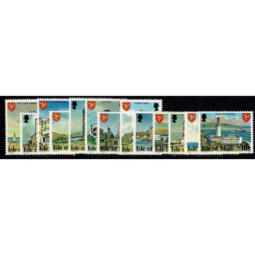 Isle of Man. 1978 Landmarks ½p - 16p set of 13 values. SG 111-123.