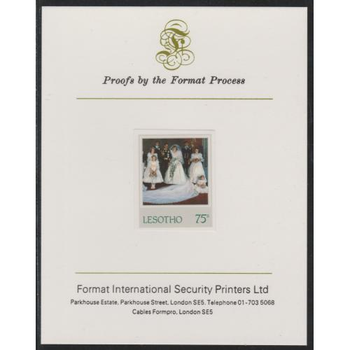 Lesotho 1982 PRINCESS DIANA'S 21st  on FORMAT INTERNATIONAL PROOF CARD