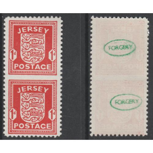 Jersey 1941 ARMS - IMPERF BETWEEN - FORGERY mnh