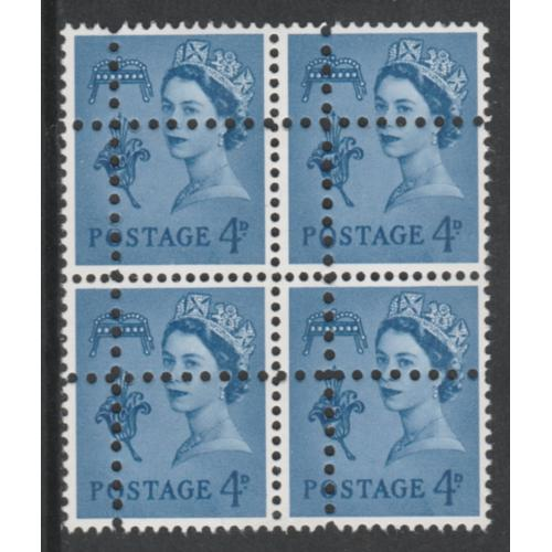 Jersey Regional 4d block of 4 DOUBLE PERFS forgery mnh
