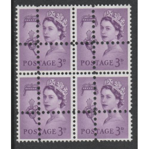 Jersey Regional 3d block of 4 DOUBLE PERFS forgery mnh
