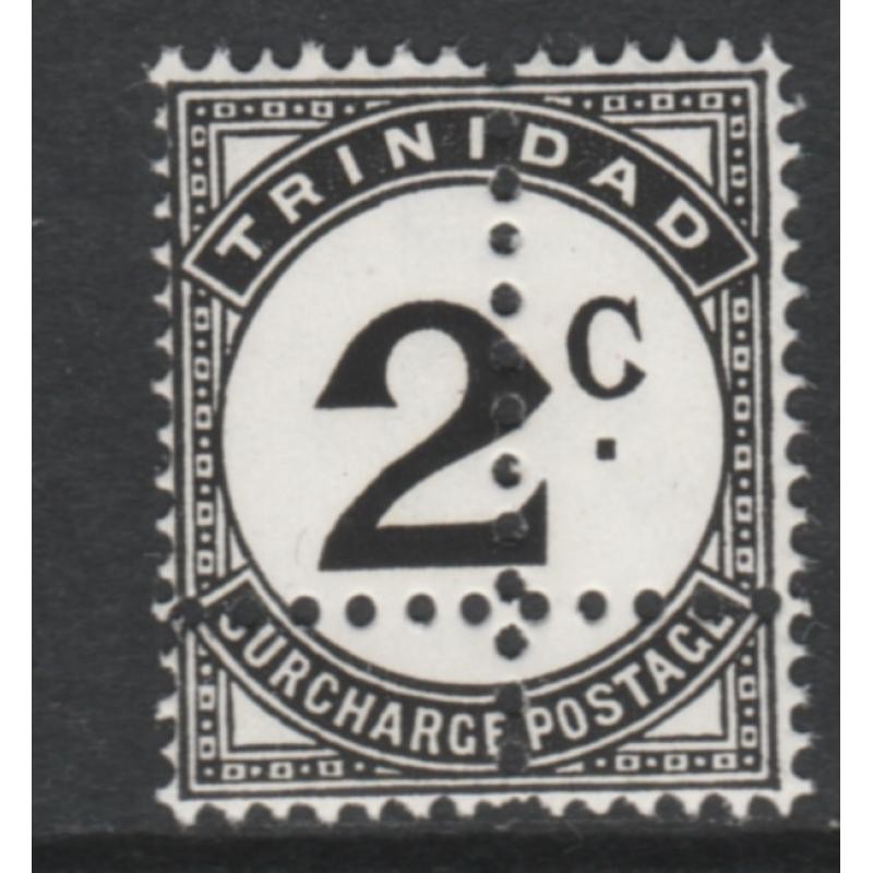 Trinidad & Tob 1923 POSTAGE DUE 2c  with  DOUBLE  PERFS - FORGERY