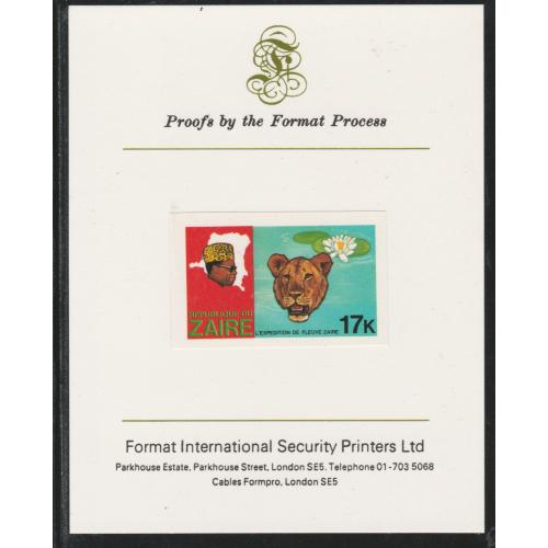 Zaire 1979 RIVER EXN - LEOPARD & LILLY  on FORMAT INTERNATIONAL PROOF CARD