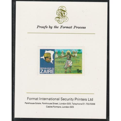 Zaire 1979 RIVER EXN - DANCER  on FORMAT INTERNATIONAL PROOF CARD