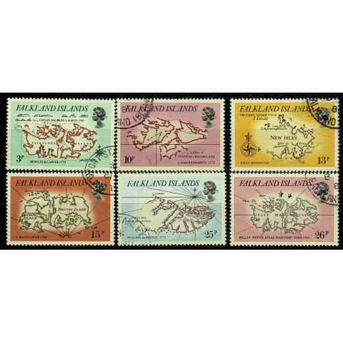 Falkland Islands. 1981 Early Maps. Set of 6 VFU. SG 396-401