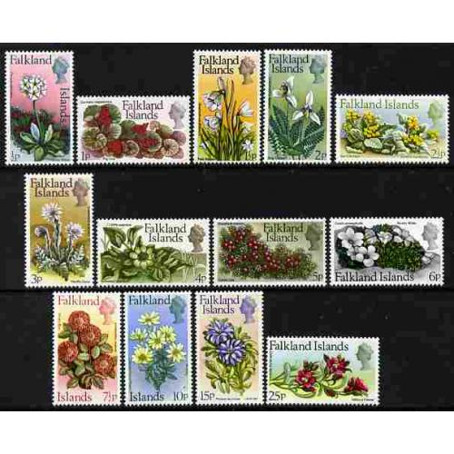 Falklands 1972 FLOWER DEF SET complete mnh