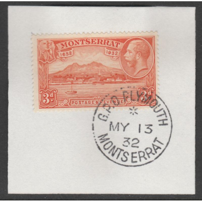 Montserrat 1932 KG5 PICTORIAL 3d with MADAME JOSEPH FORGED CANCEL