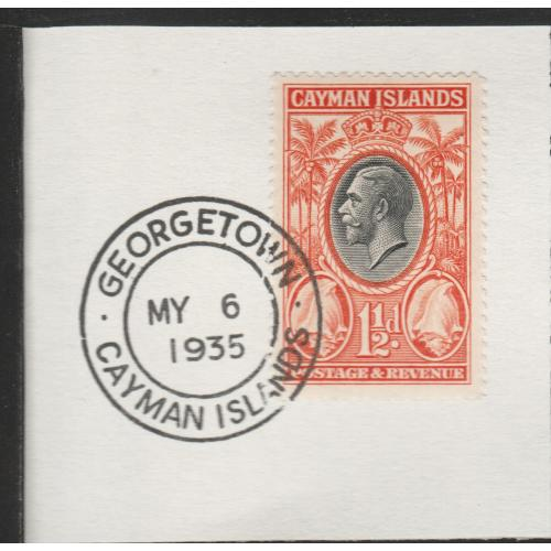 Cayman Islands  1935 KG5 PICTORIAL 1.5d with MADAME JOSEPH FORGED CANCEL
