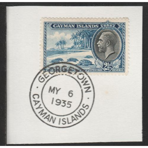 Cayman Islands  1935 KG5 PICTORIAL 2.5d with MADAME JOSEPH FORGED CANCEL