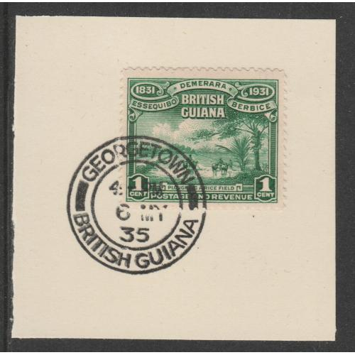British Guiana 1931 CENTENARY 1c with MADAME JOSEPH FORGED CANCEL