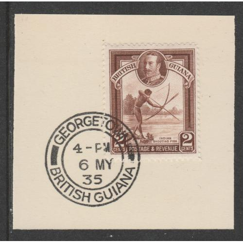 British Guiana 1934 KG5 PICTORIAL 2c with MADAME JOSEPH FORGED CANCEL