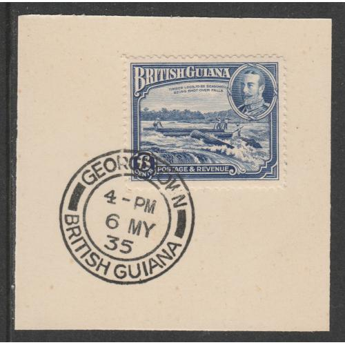 British Guiana 1934 KG5 PICTORIAL 6c with MADAME JOSEPH FORGED CANCEL
