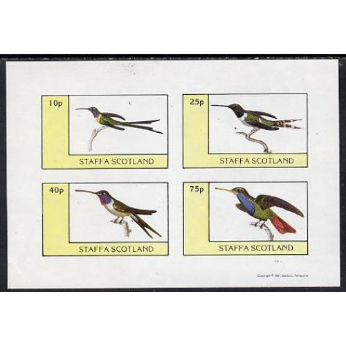 Staffa 1981 HUMMING BIRDS imperf set of 4 mnh