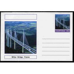 Fantasy (Chartonia) - MILLAU BRIDGE - Postal stationery card