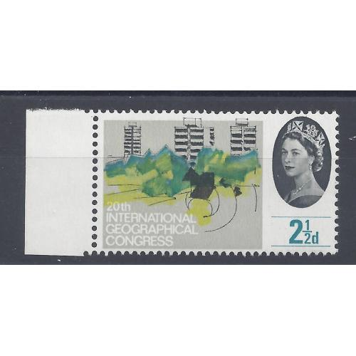 1964 GEOGRAPHICAL 2.5d GREY  & YELLOW COLOUR SHIFT