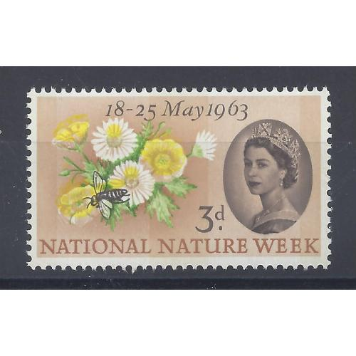 1963 NATURE 3d YELLOW COLOUR SHIFT & PALE GREEN